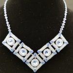 Swarovski Sapphire Floating Orbs Necklace