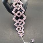 Rose Pink Geometric Bracelet