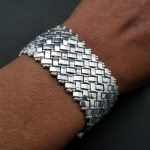 Silver Half Tila Bead Bracelet